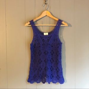 Urban Outfitters Purple Lace Crochet Tank Top